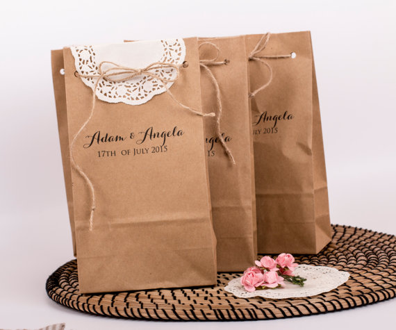 rustic wedding favor bags