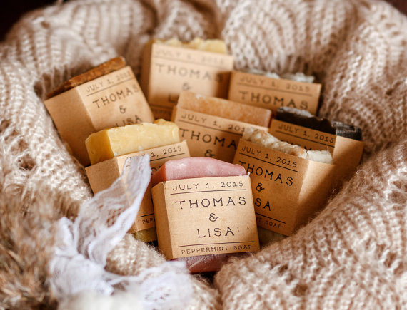 unique wedding favor ideas - homemade soap