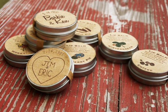 unique wedding favor ideas - custom lip balm wedding favors