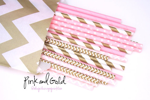 cute bridal party straws