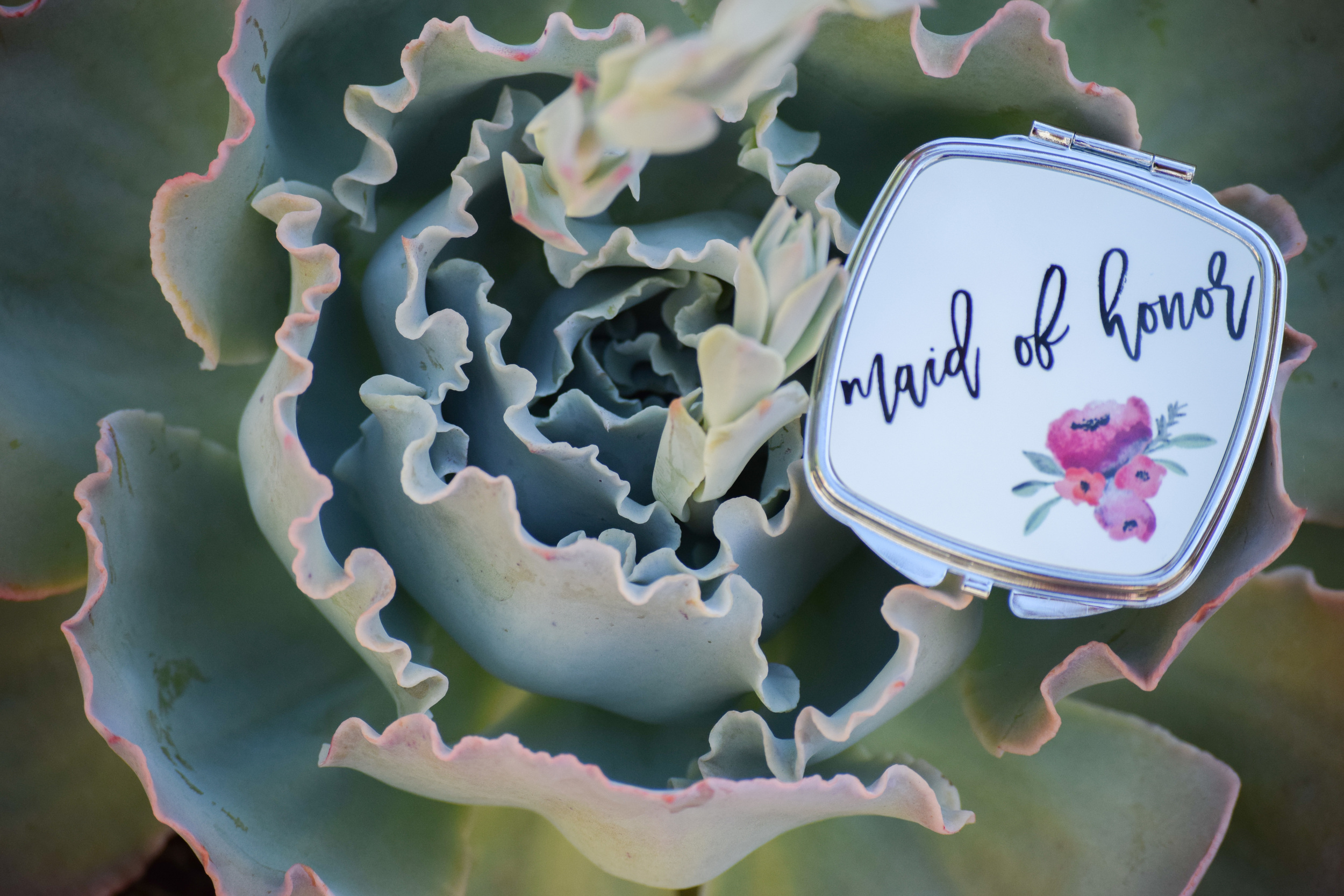 Bridal Party Gift Compact Mirrors