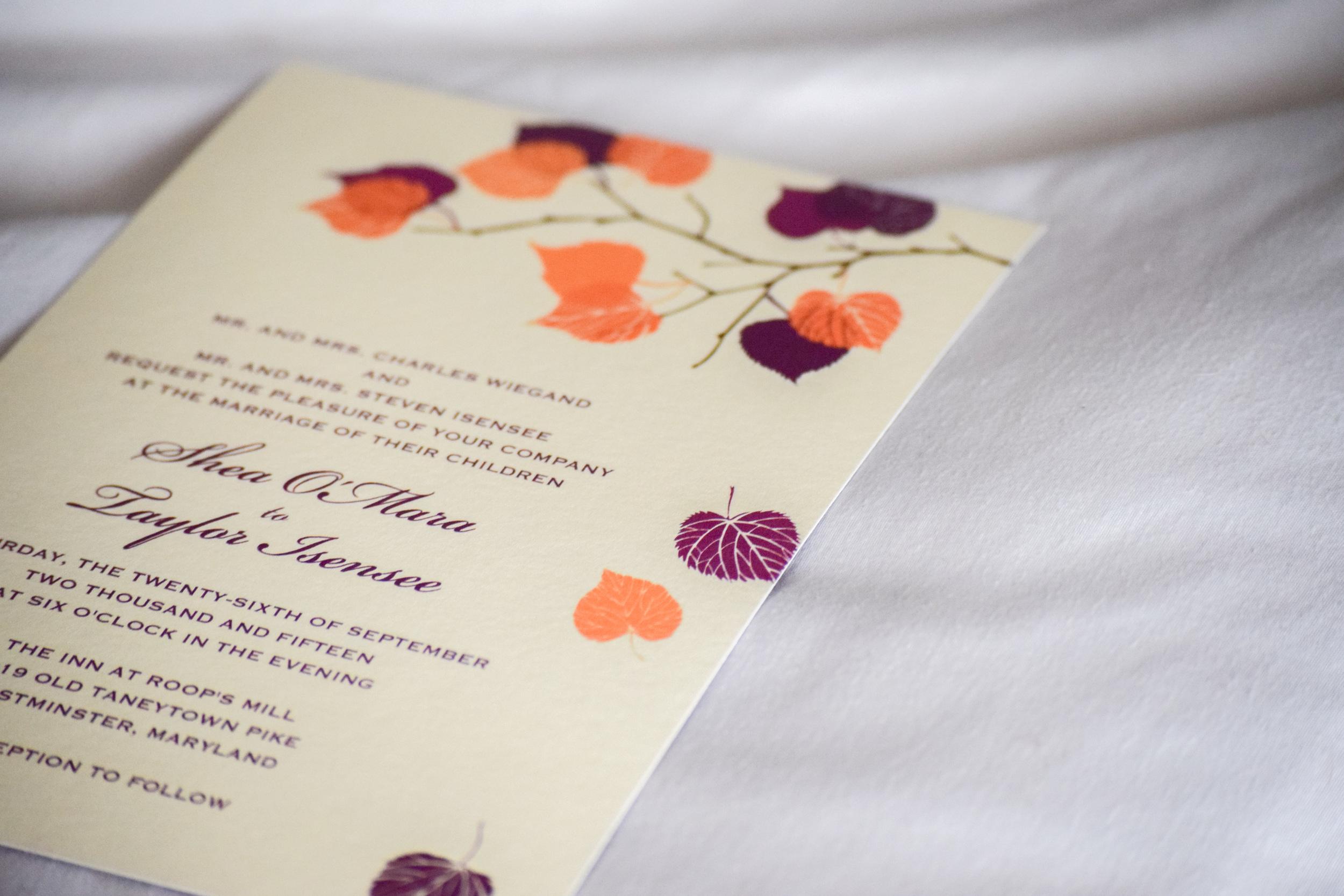 eco friendly wedding invitations, inexpensive customizable wedding invitations - fall wedding invitations