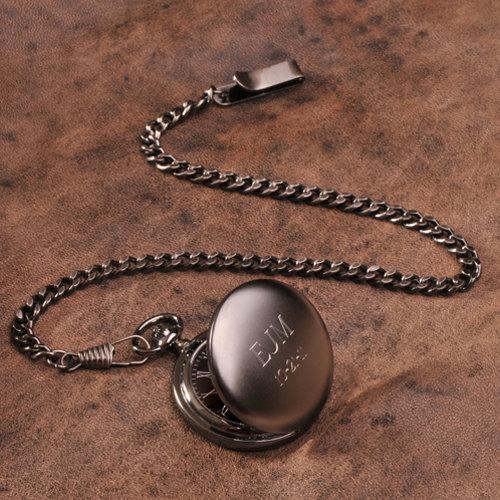 Gunmetal Pocket Watch