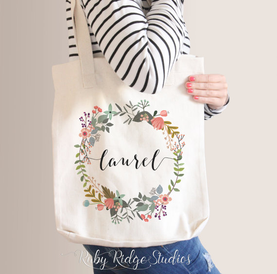Floral Wreath Tote