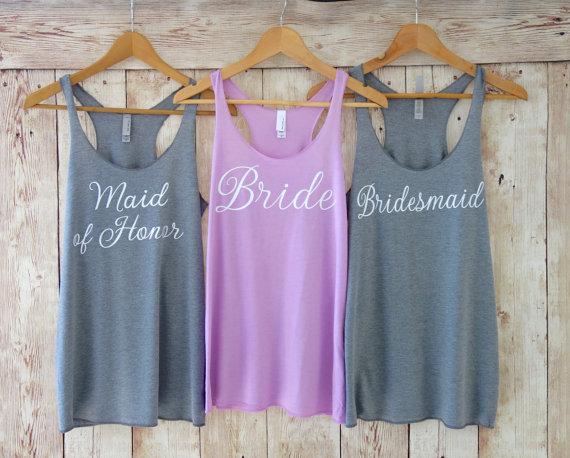 Bride + Bridesmaid Tank