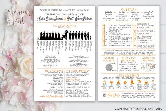 Silhouette Wedding Programs
