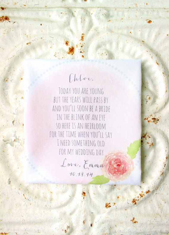 Flower Girl Gift Handkerchief