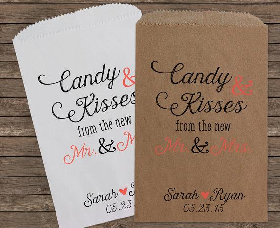 Candy Bar Paper Wedding Favor Bags