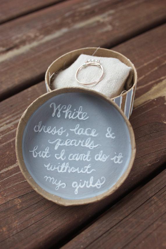 Pearl Ring Bridesmaid Proposal
