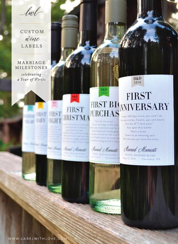 Anniversary Wine Labels