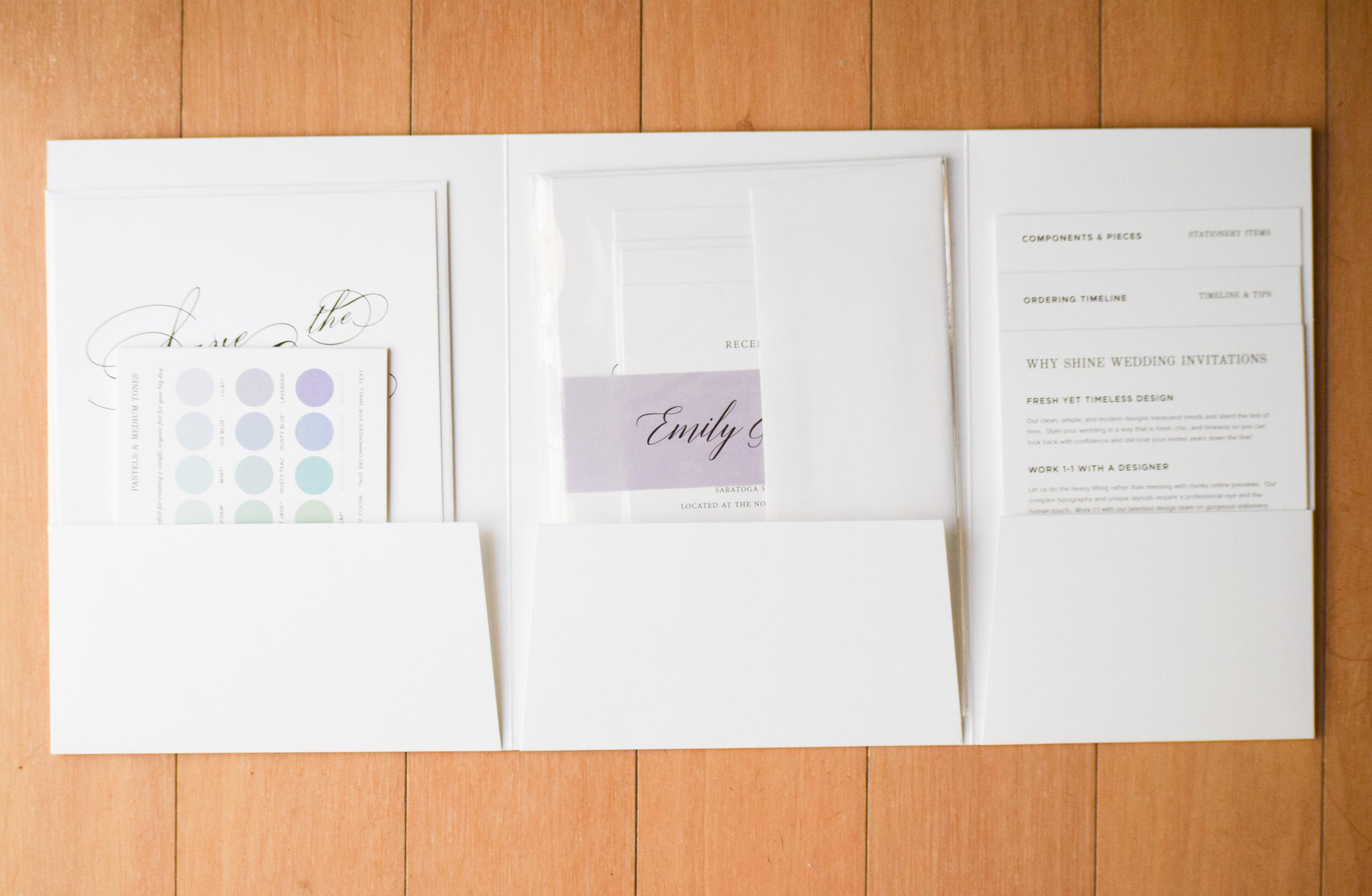 elegant wedding invitations - Shine Invitations