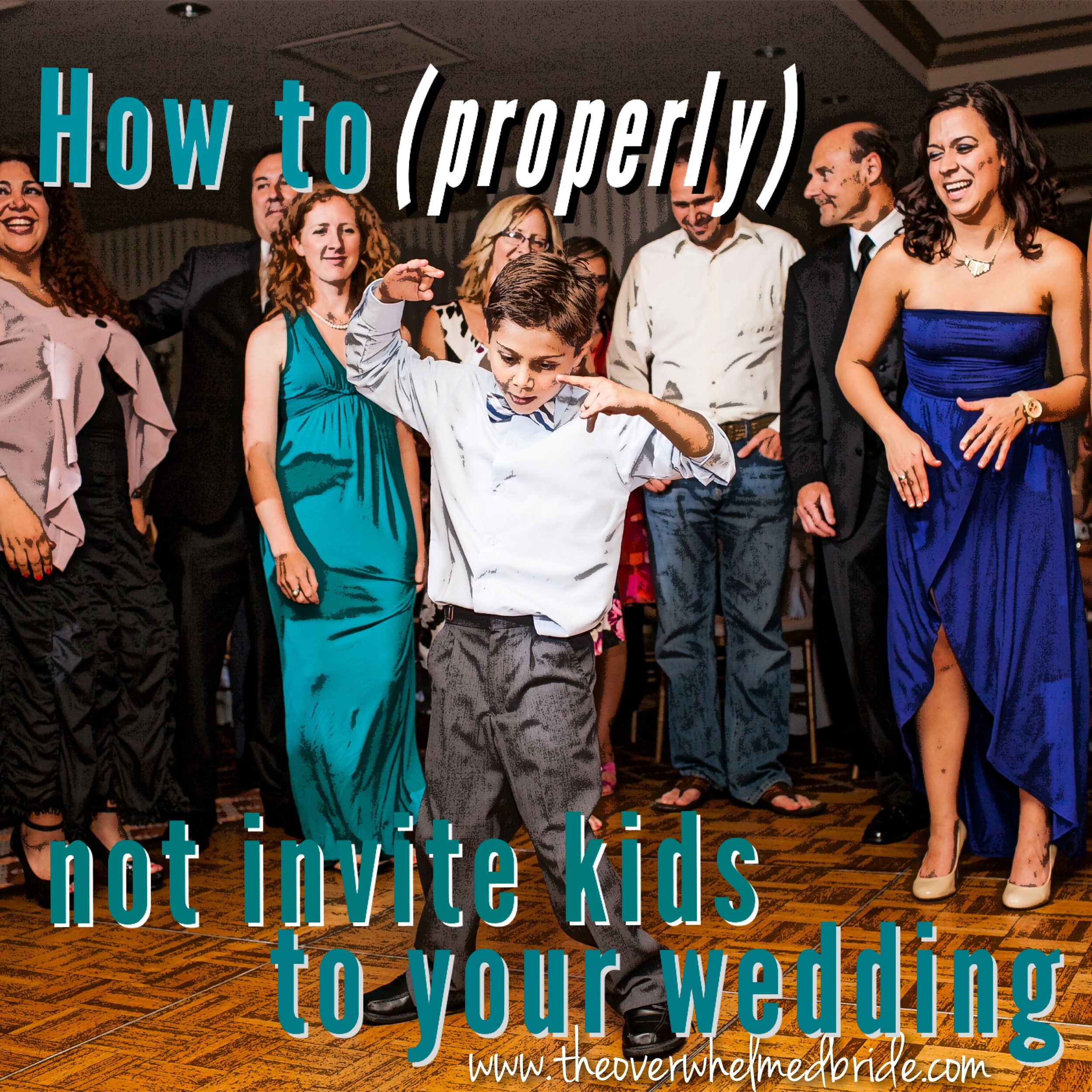 How do I tell people that kids aren't invited to my wedding?