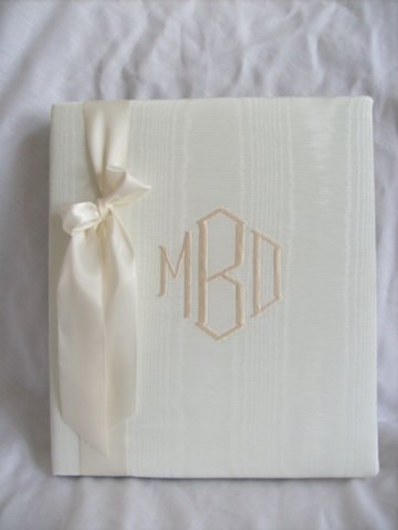 monogrammed wedding items -wedding guest book