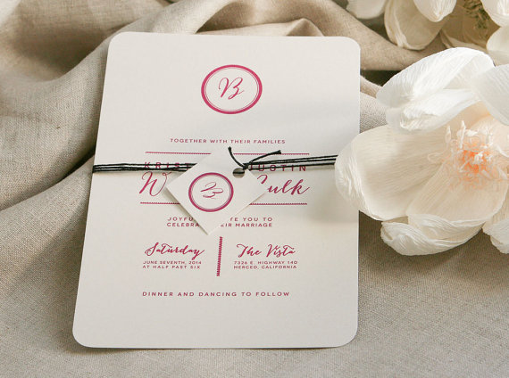 monogrammed wedding items - simple wedding invitations