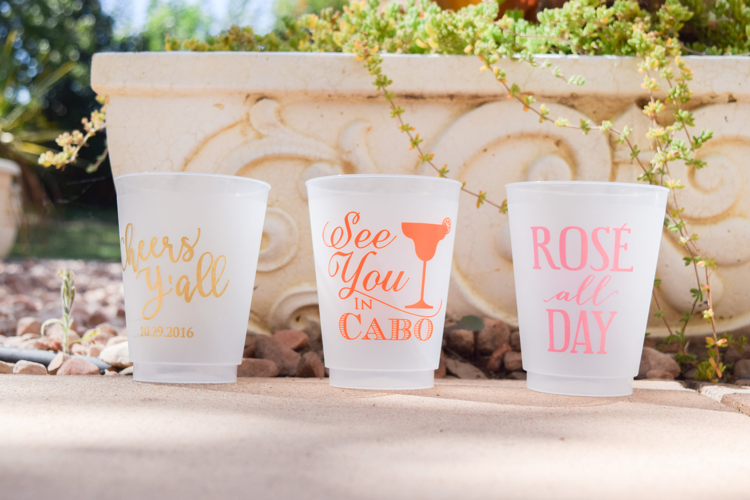 The Bridal Boutique | Personalized Bachelorette, Bridal Shower and Wedding Day Cups by Gracious Bridal