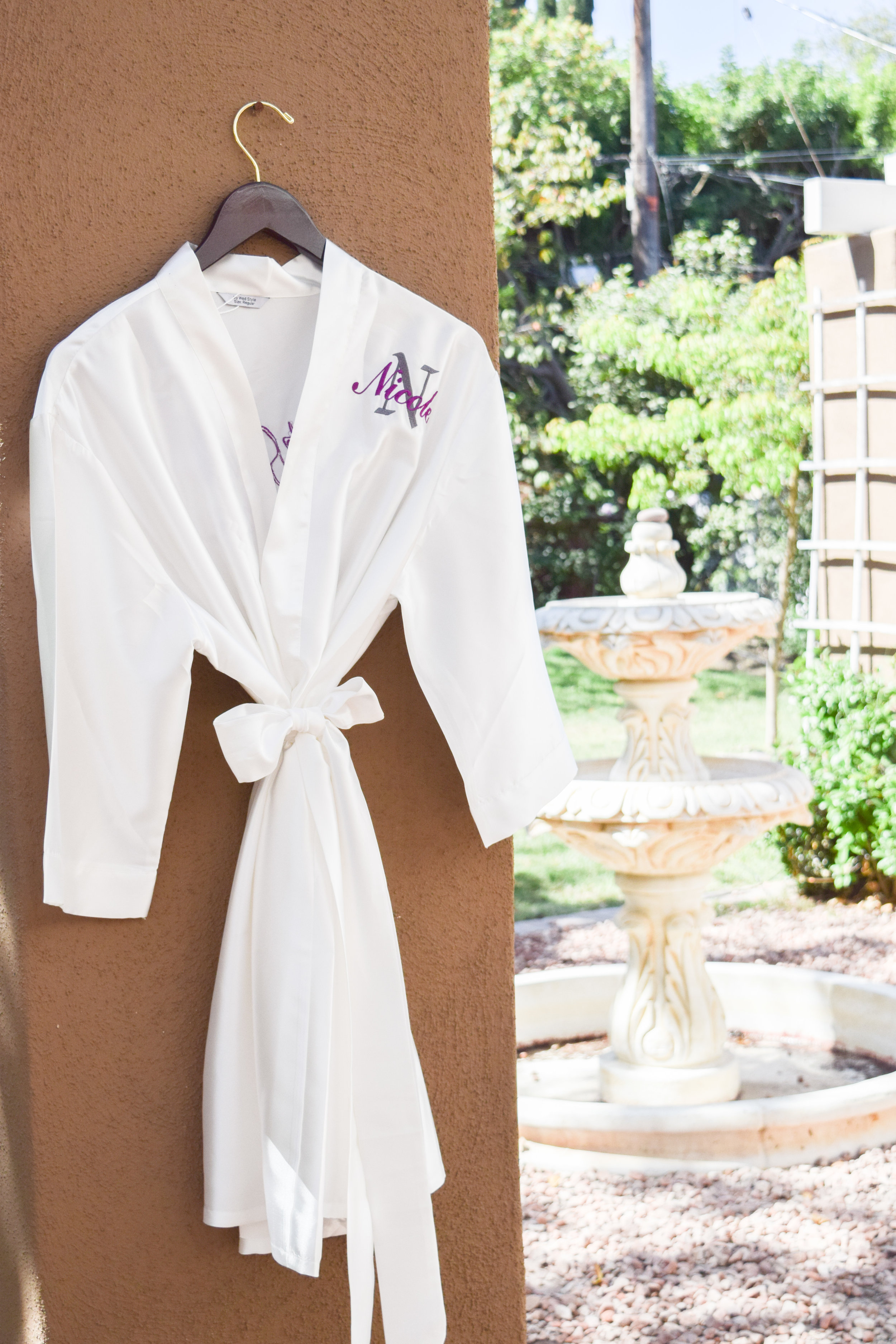 Monogrammed Silk Bridal Robes by My Wed Style
