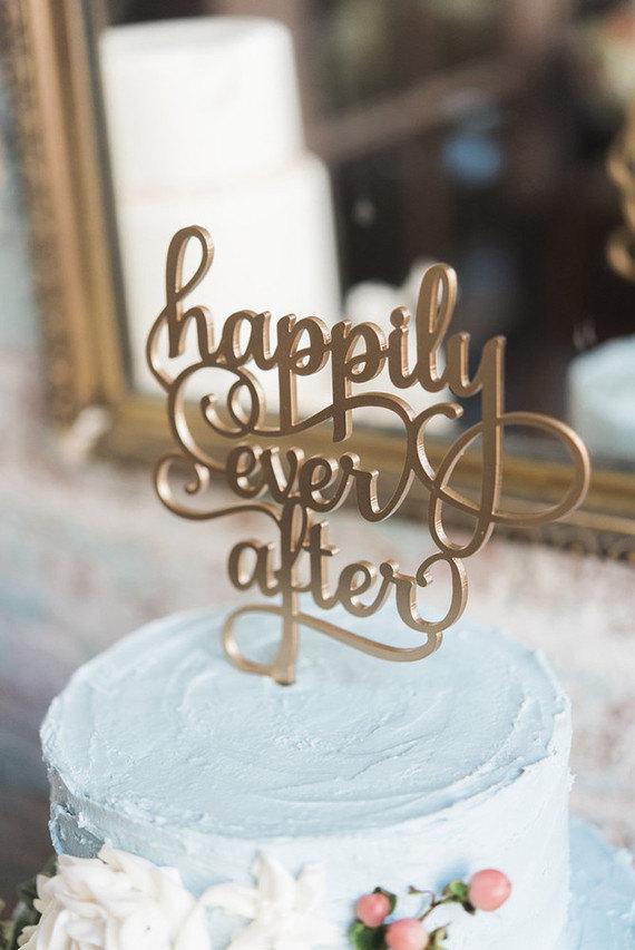 Gold Laser Cut Cake Topper