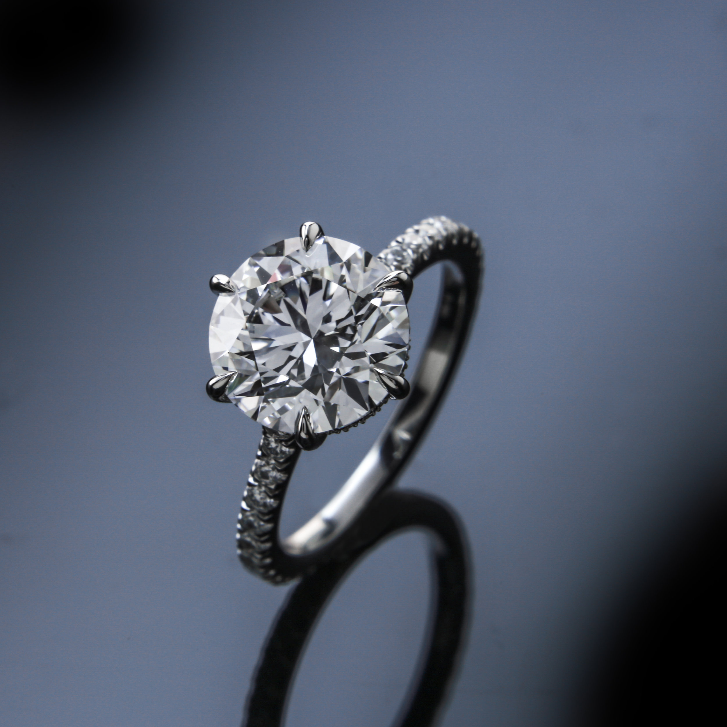 2017 Engagement Ring Trends featuring Black by Brian Gavin