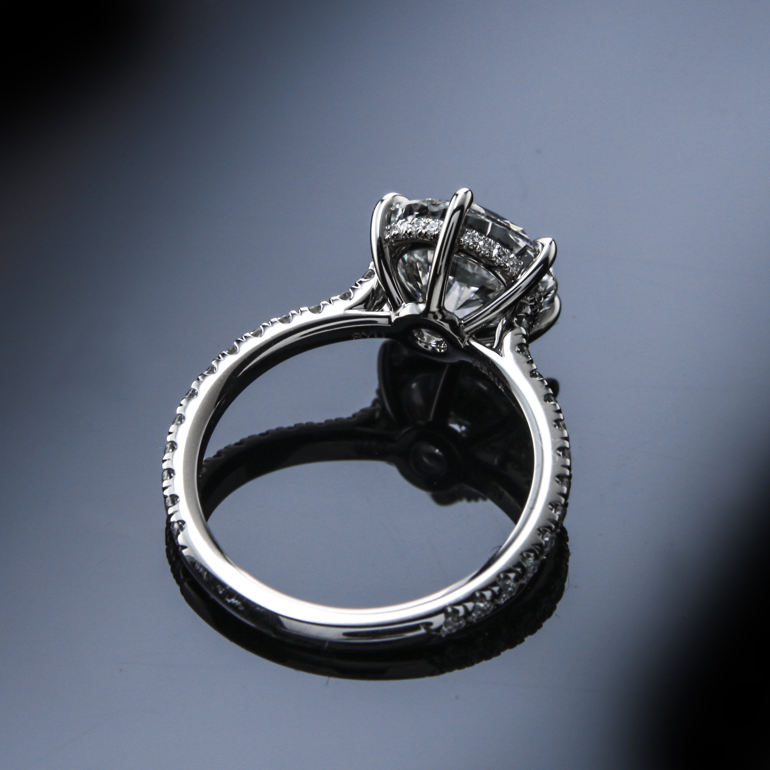 Solitaire Engagement Ring - 2017 Engagement Ring Trends featuring Black by Brian Gavin