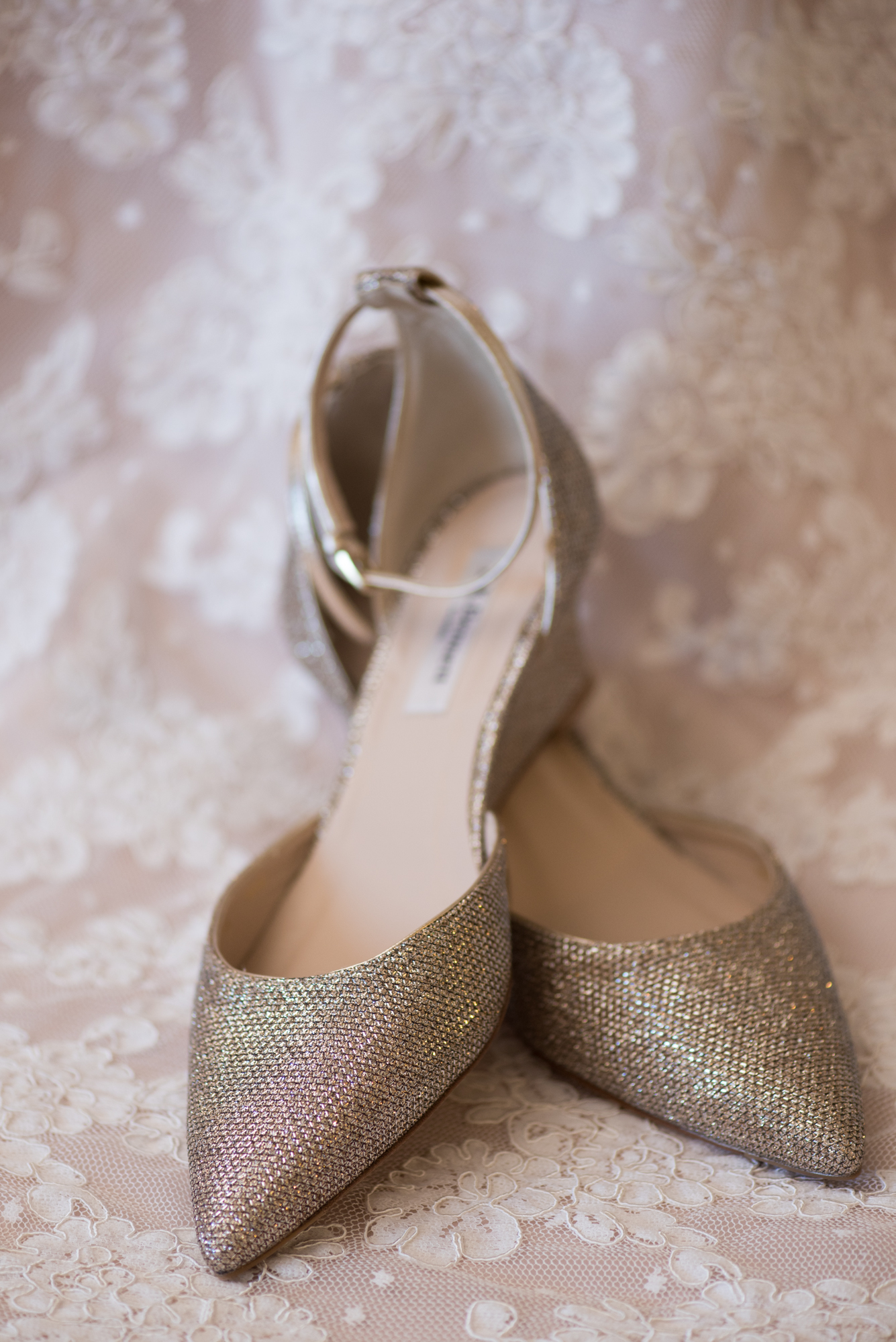 Gold Wedding Heels Travel Themed Wedding - Caitlin Gerres Photography