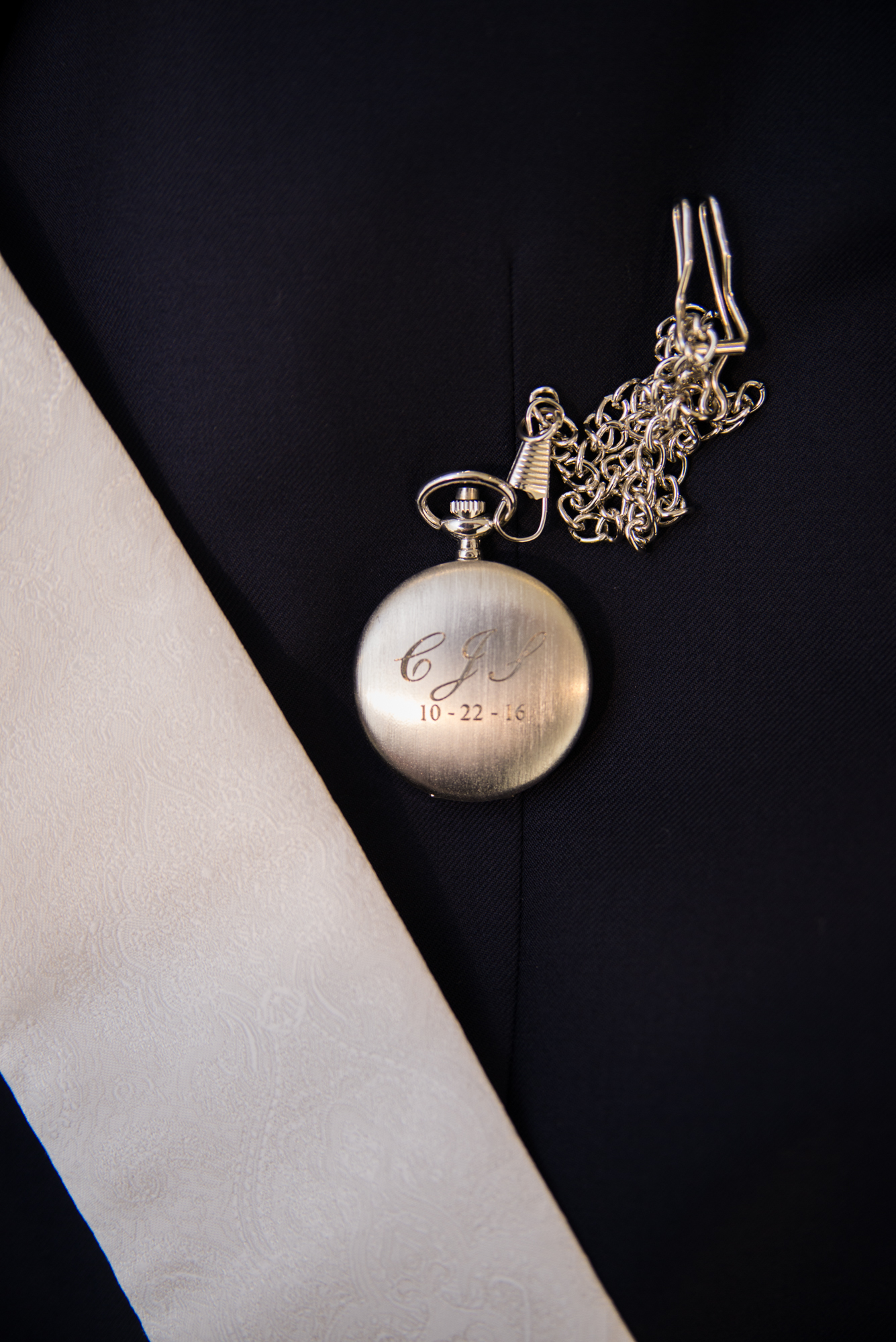 Groom's Gift - Engraved Pocket Watch - Travel Themed Wedding - Caitlin Gerres Photography