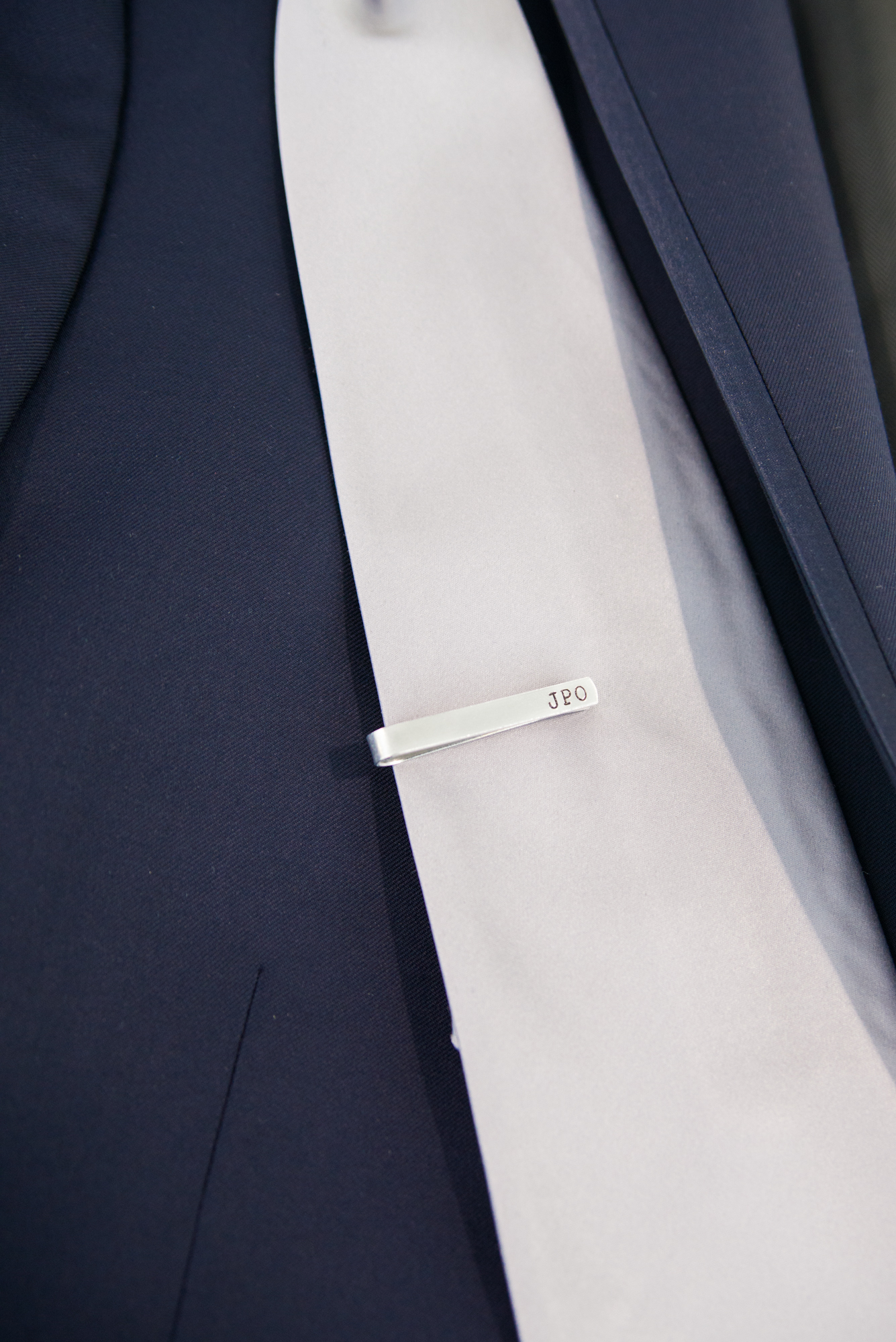 Groom's Gift Engraved Tie Clip - Travel Themed Wedding - Caitlin Gerres Photography