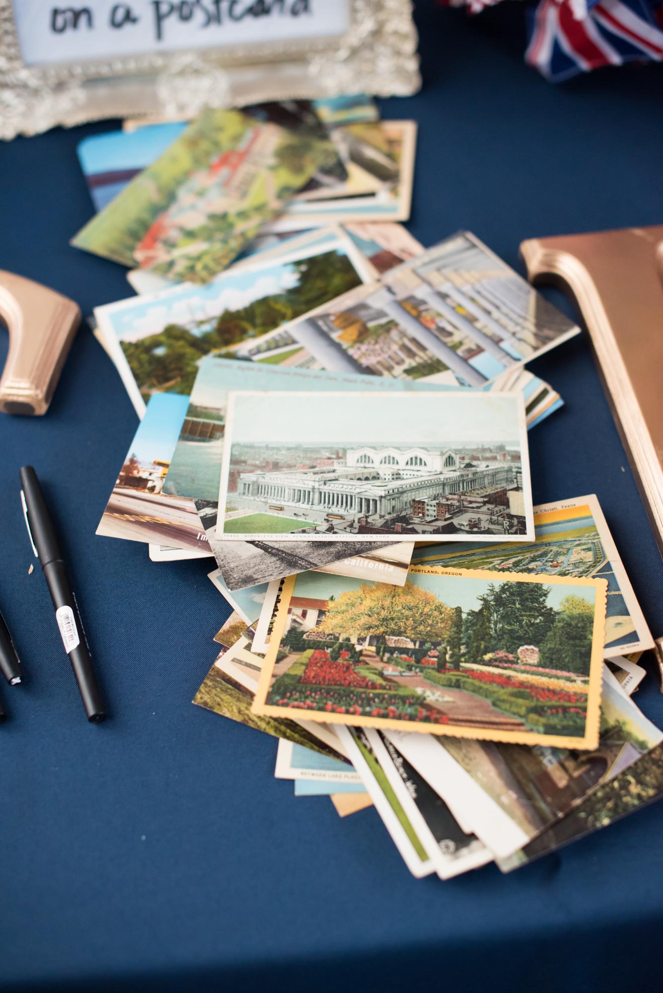 Postcard Gguest Book Alternative - Travel Themed Wedding - Caitlin Gerres Photography