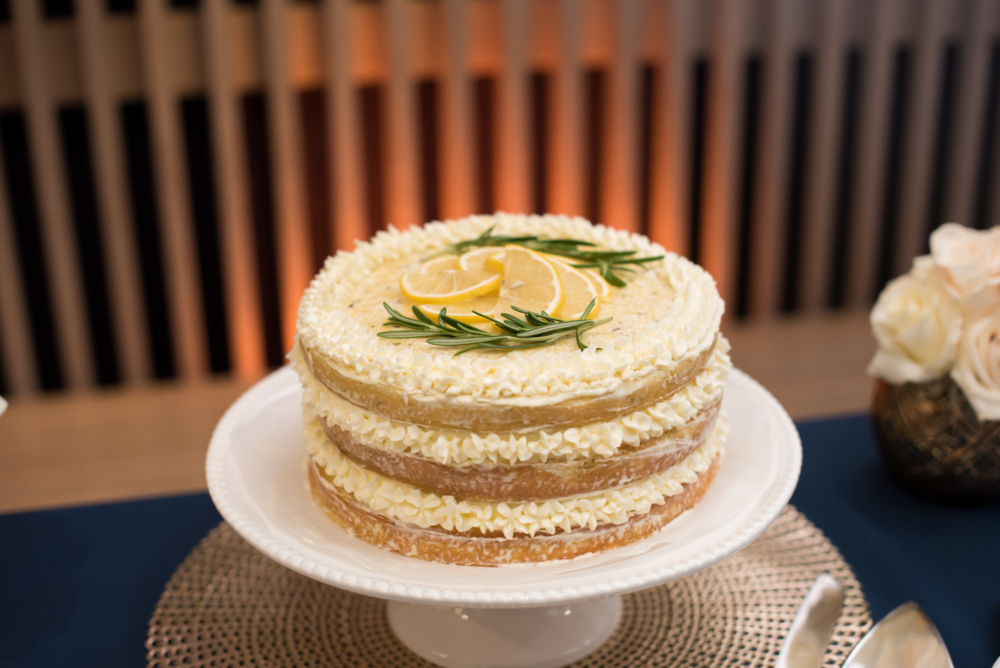 Simple Wedding Cake - Travel Themed Wedding - Caitlin Gerres PhotographyTravel Themed Wedding - Caitlin Gerres Photography