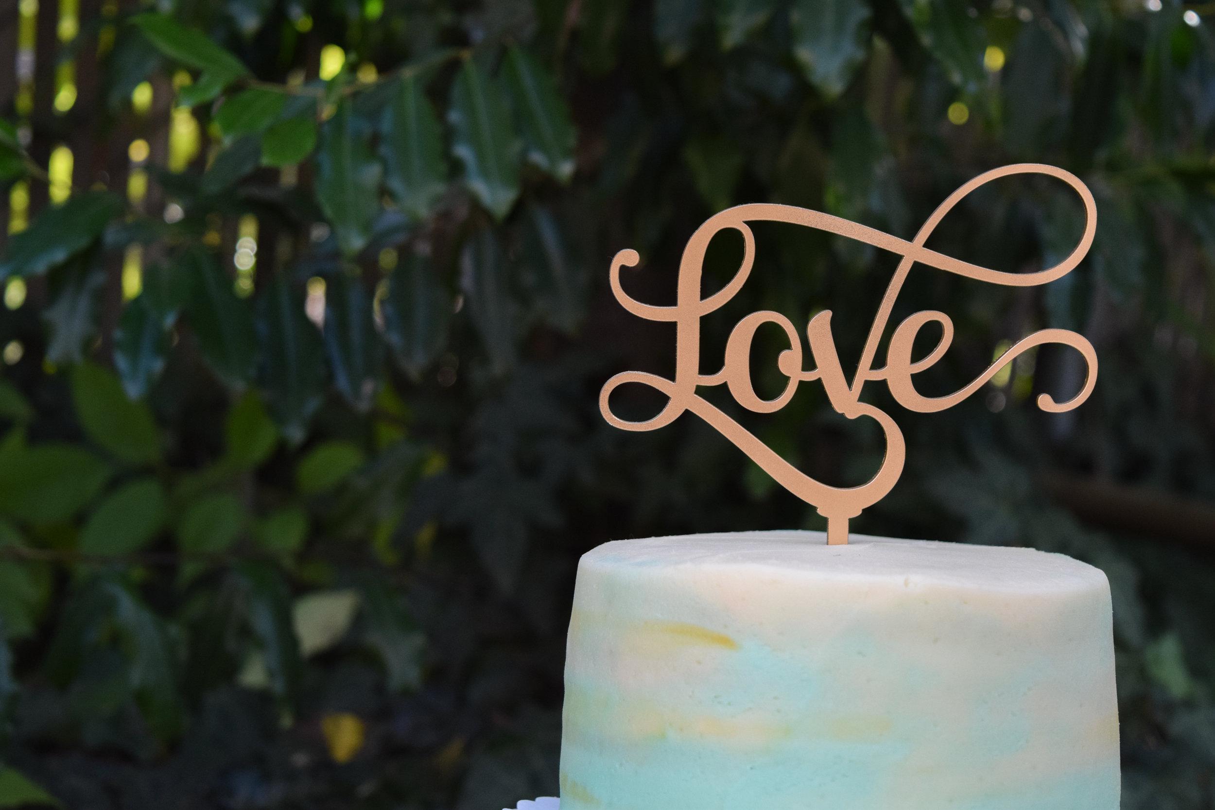 Gold Laser Cut Cake Topper by Black Label Decor