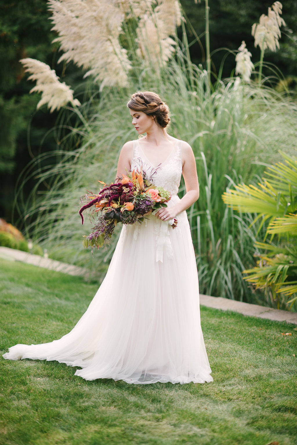 BHLDN Reagan Wedding Dress - STYLED WEDDING SHOOT | A Romantic Vintage Fall Wedding