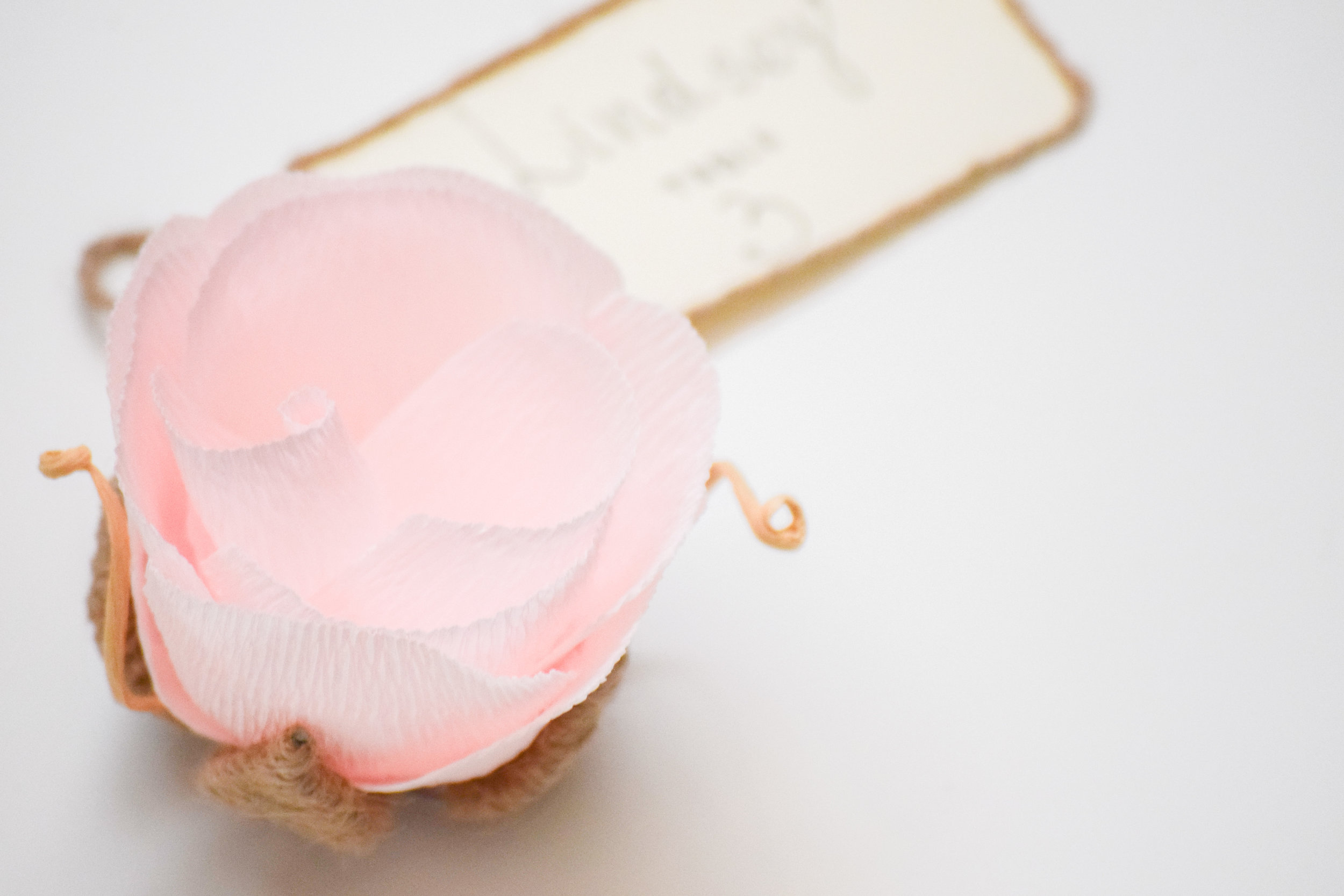 Wedding Seating Card Ideas - The Bridal Boutique | Handmade Paper Flower Seating Cards, VEN Decor Handmade