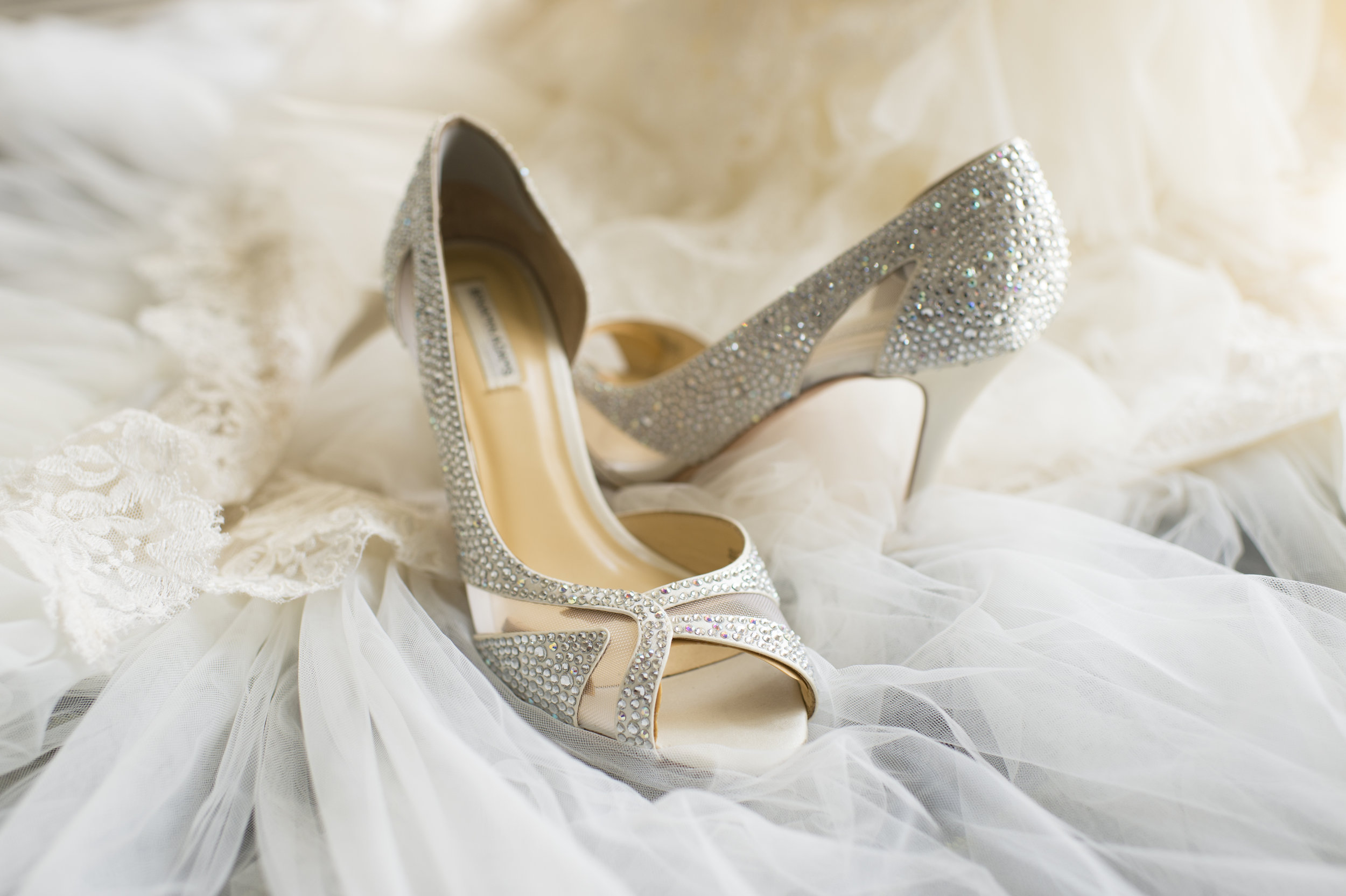 Whit Wedding Shoes - A Romantic Bel Air Bay Club Ocean-View Wedding - Southern California Wedding - Kevin Dinh Photography