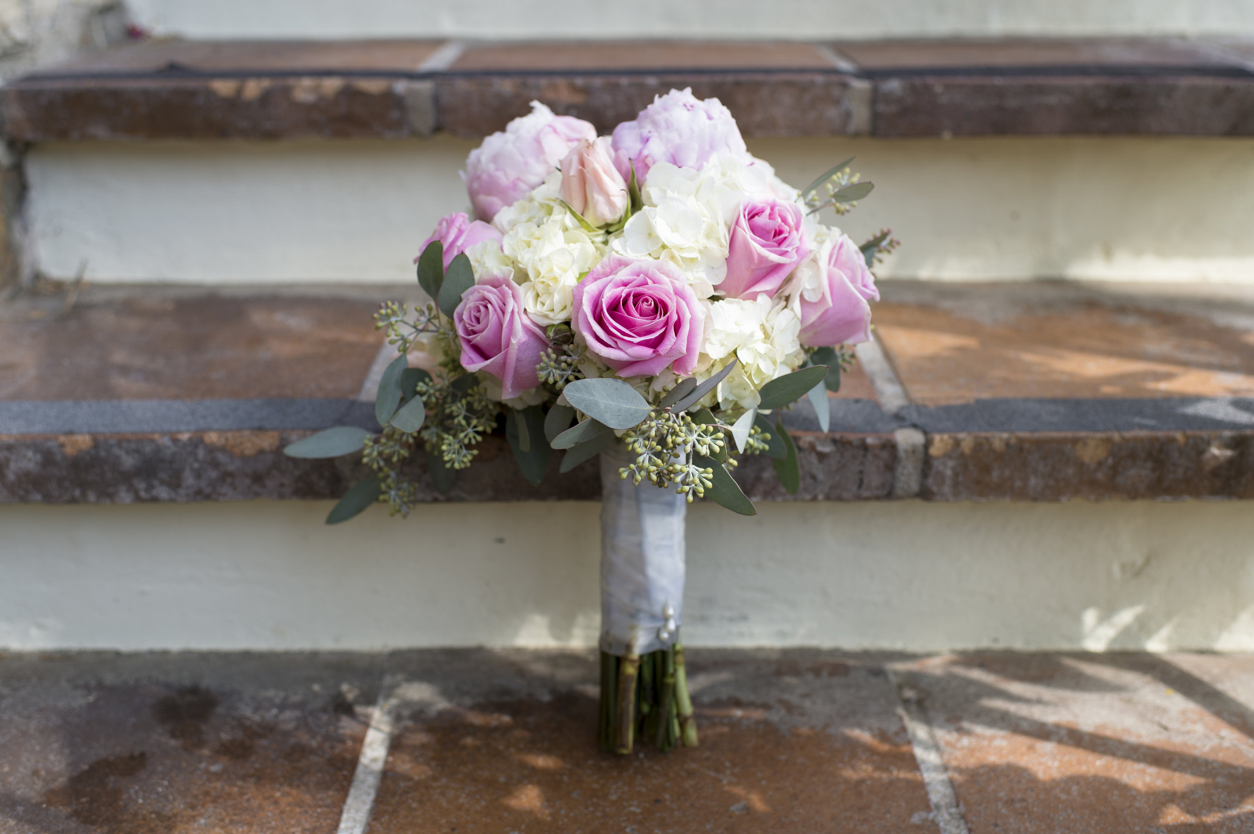 White and Blush Wedding Bouquet - A Romantic Bel Air Bay Club Ocean-View Wedding - Southern California Wedding - Kevin Dinh Photography