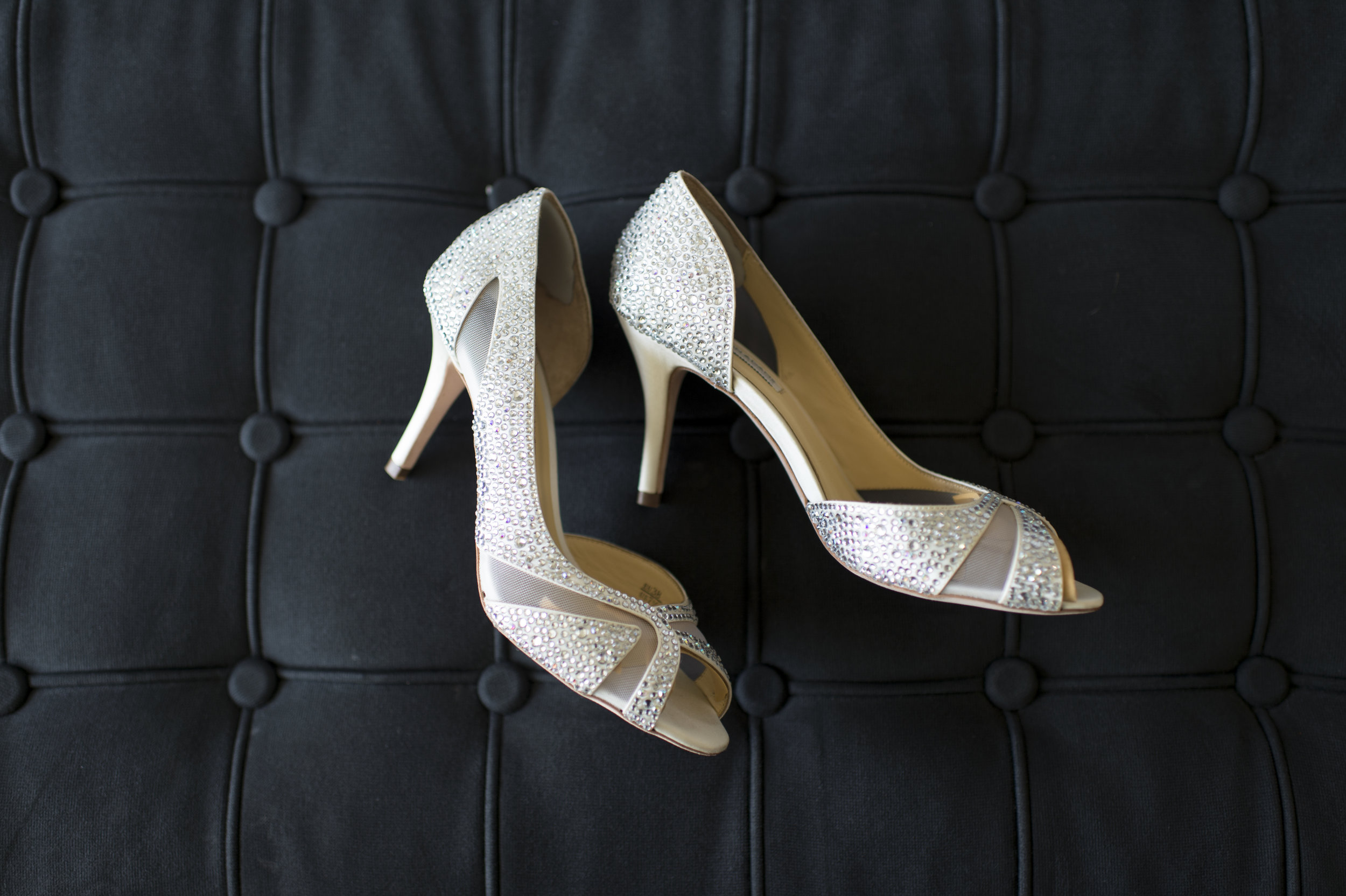 White Classic Bridal Heels - A Romantic Bel Air Bay Club Ocean-View Wedding - Southern California Wedding - Kevin Dinh Photography
