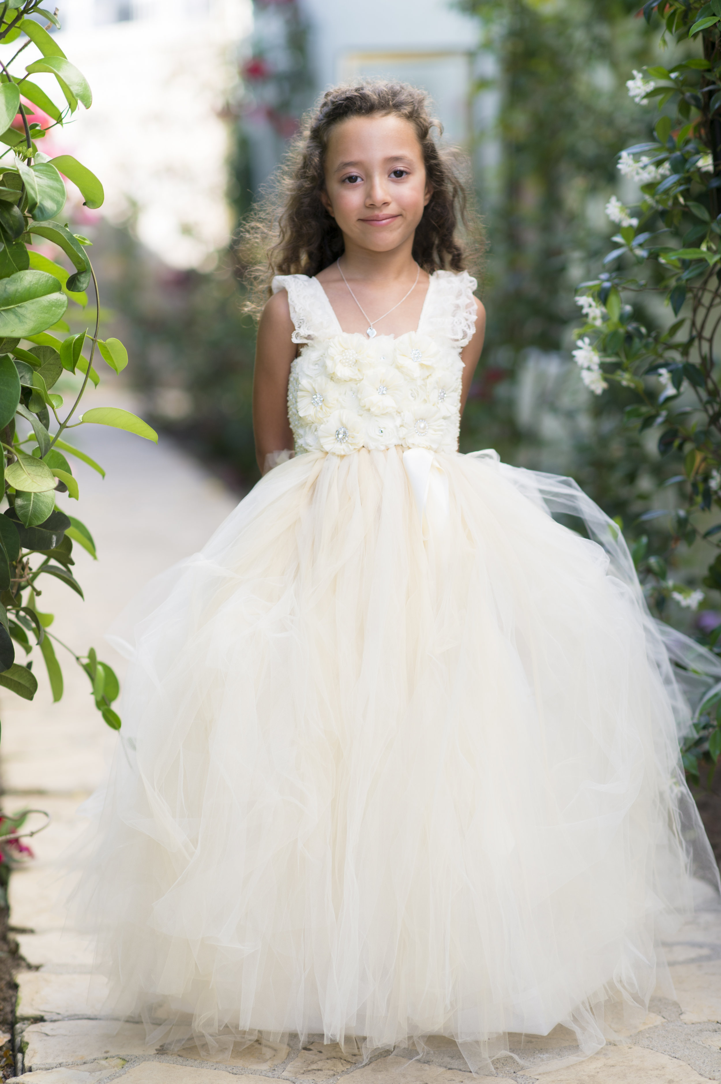 Ivory Flower Girl Dress - A Romantic Bel Air Bay Club Ocean-View Wedding - Southern California Wedding - Kevin Dinh Photography