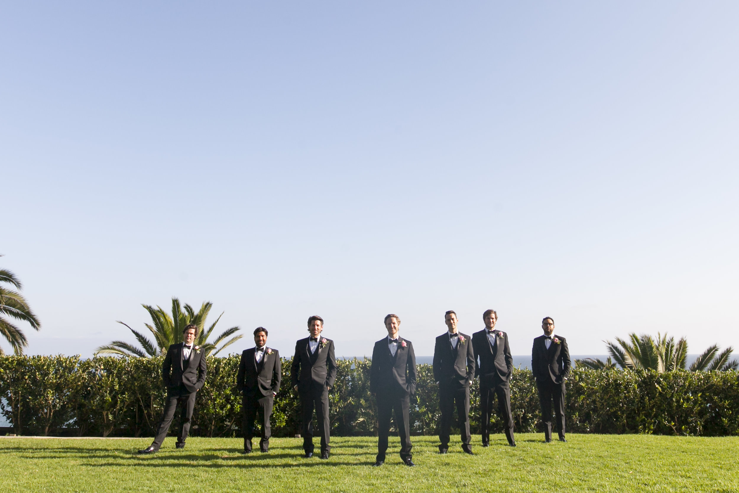 Groomsman Photos - A Romantic Bel Air Bay Club Ocean-View Wedding - Southern California Wedding - Kevin Dinh Photography