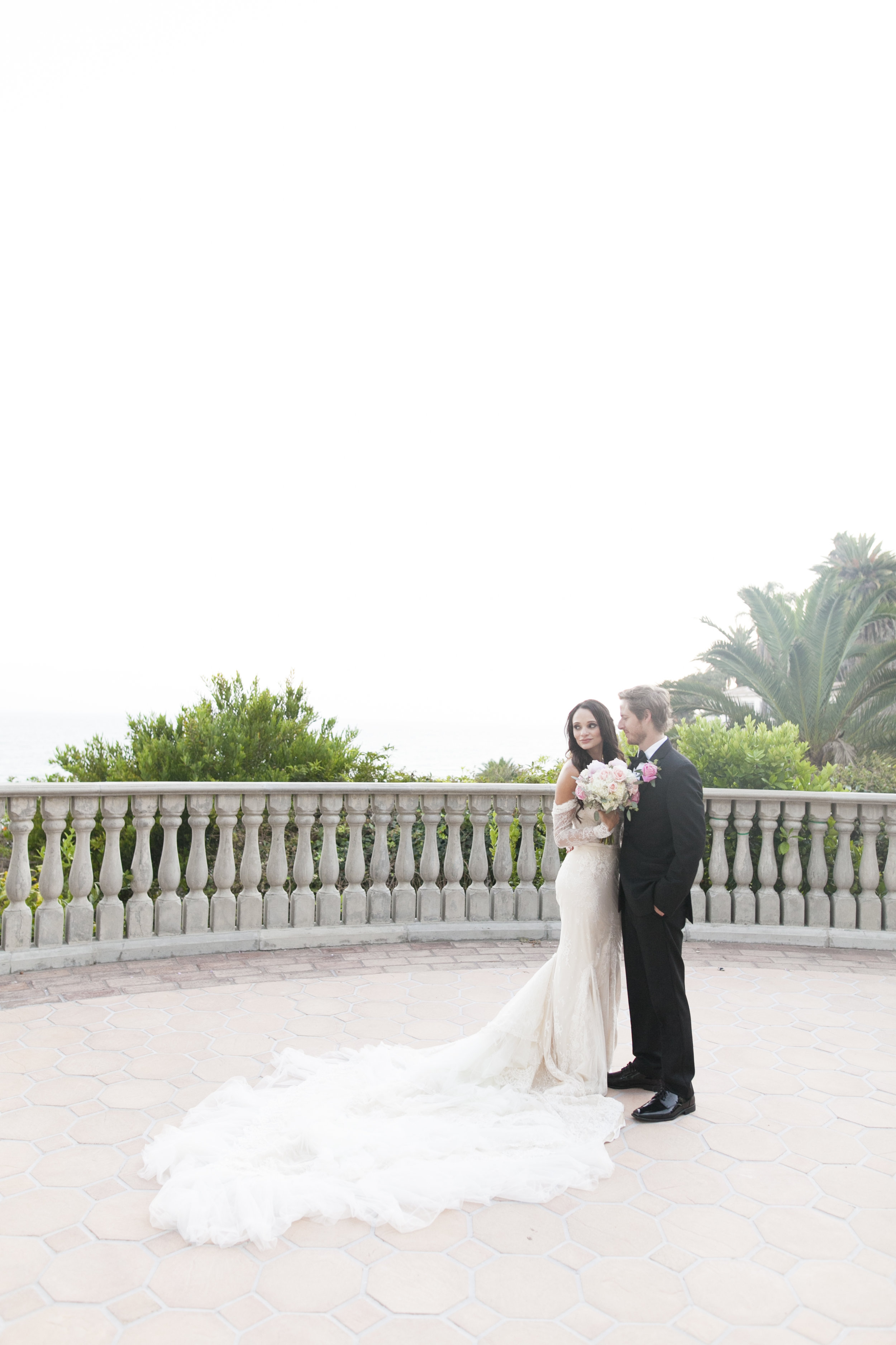 Bride and Groom Portraits - A Romantic Bel Air Bay Club Ocean-View Wedding - Southern California Wedding - Kevin Dinh Photography