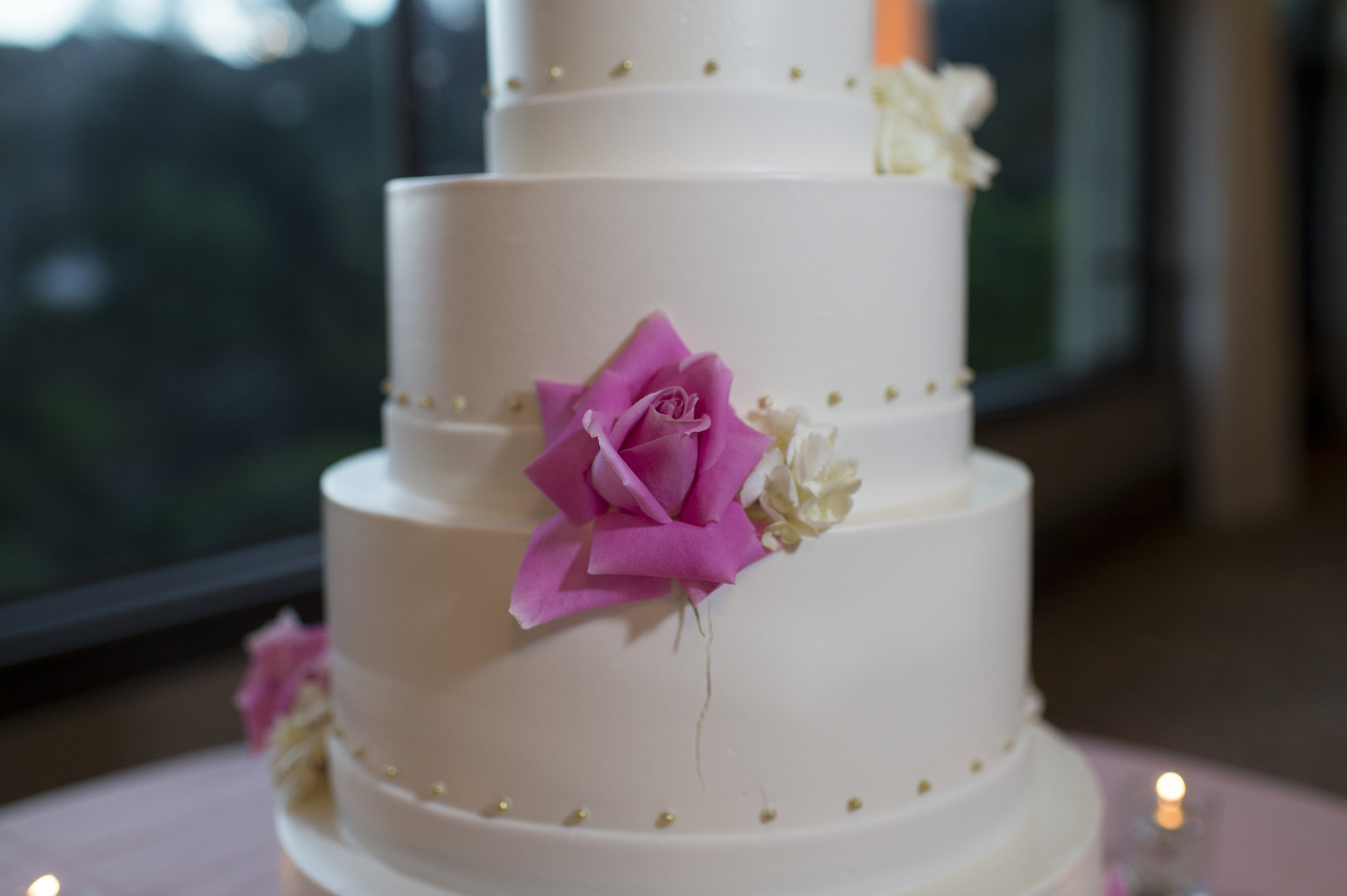 White Wedding Cake - A Romantic Bel Air Bay Club Ocean-View Wedding - Southern California Wedding - Kevin Dinh Photography