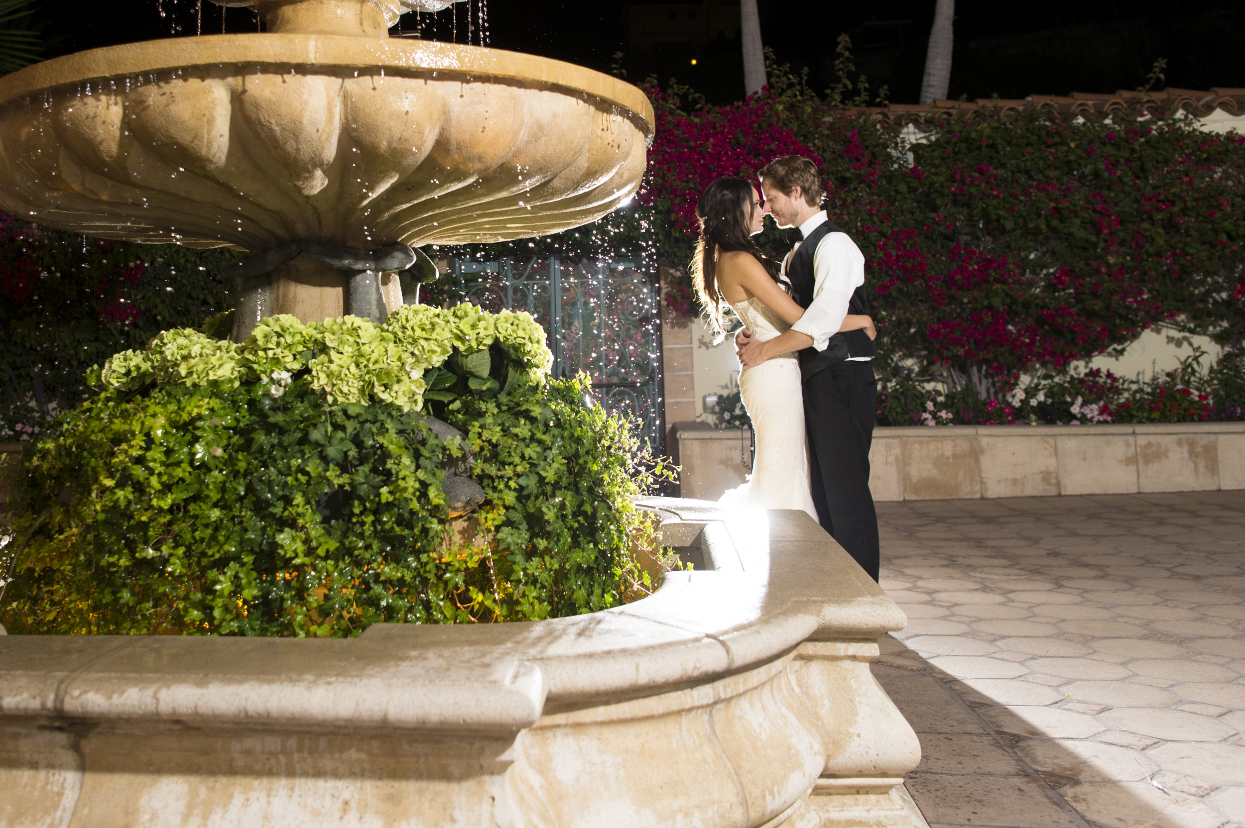 Night time Bride and Groom Portraits - A Romantic Bel Air Bay Club Ocean-View Wedding - Southern California Wedding - Kevin Dinh Photography