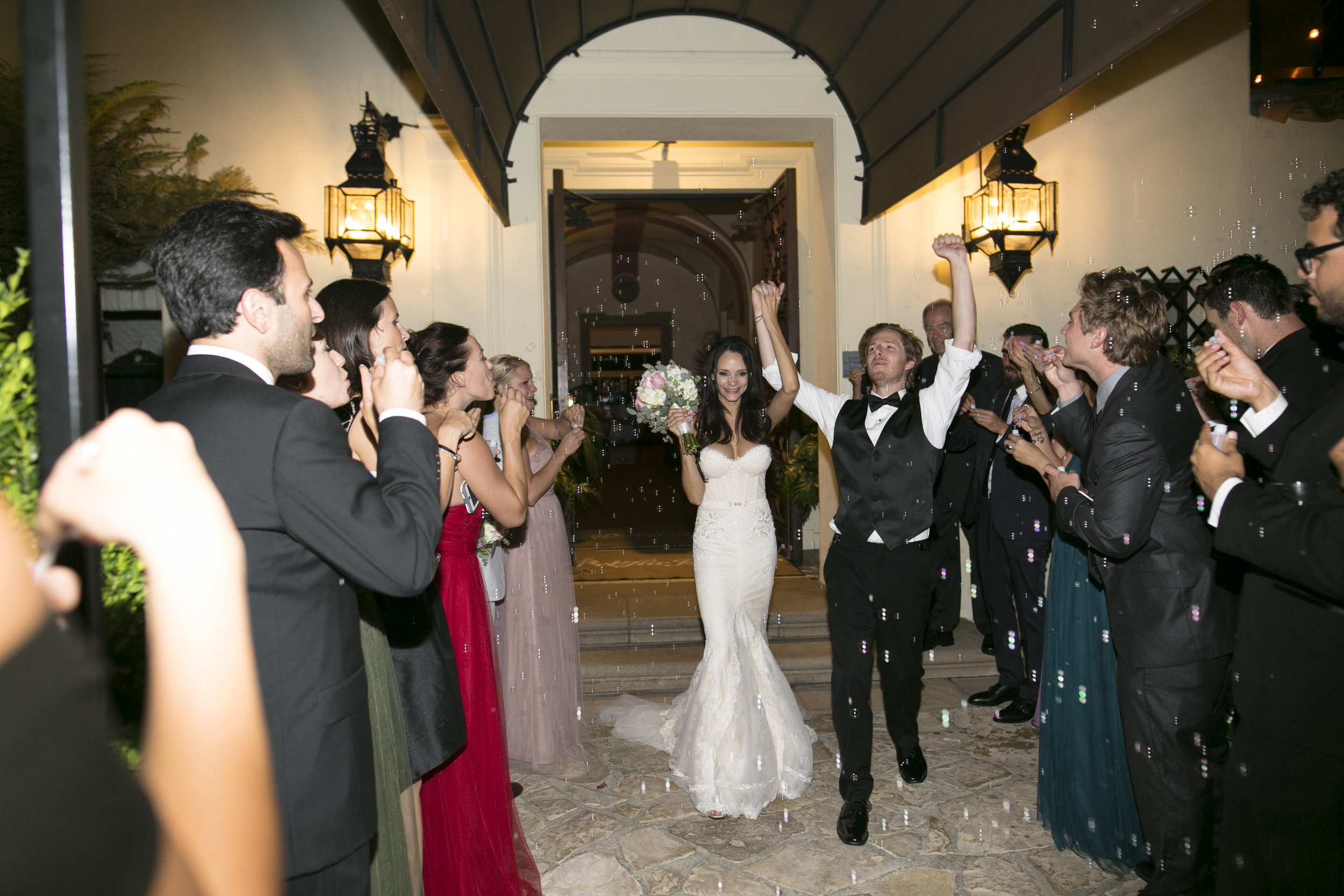 Wedding Exit Send Off - A Romantic Bel Air Bay Club Ocean-View Wedding - Southern California Wedding - Kevin Dinh Photography