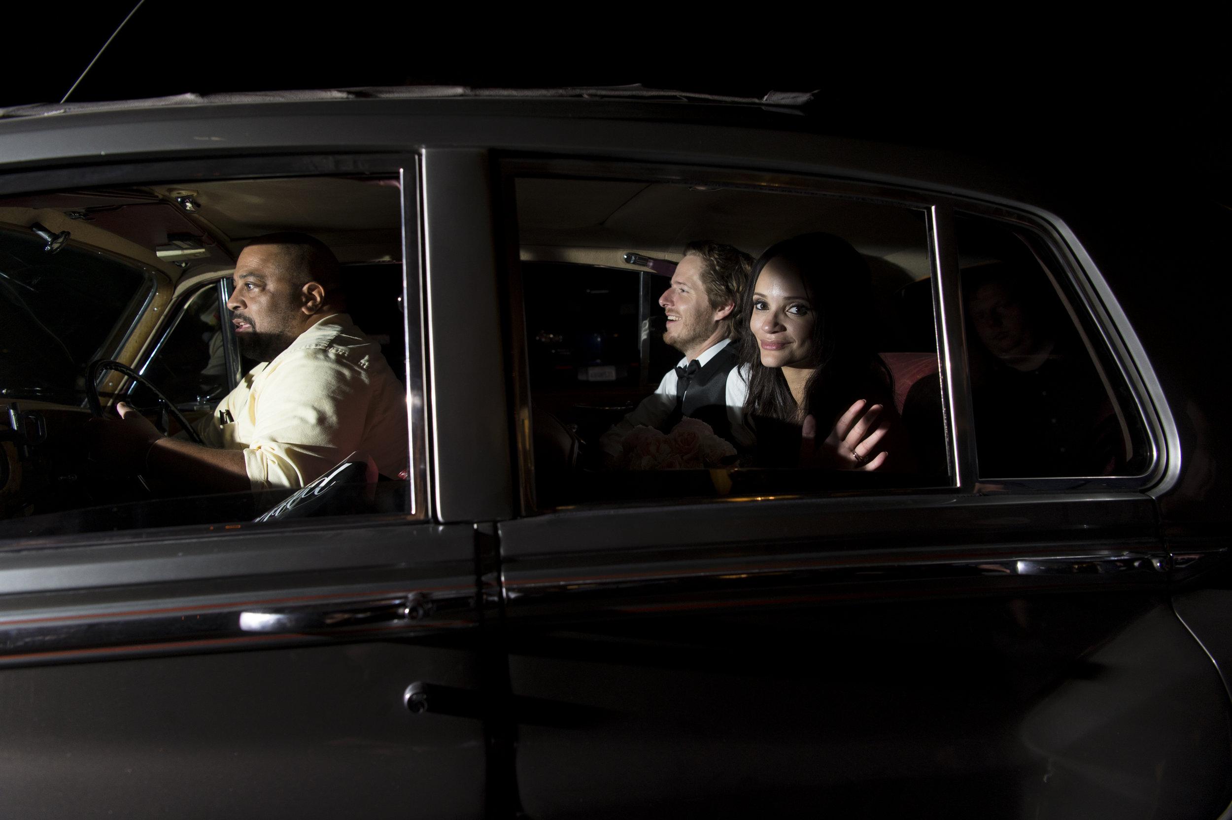 Vintage Wedding Getaway Car - A Romantic Bel Air Bay Club Ocean-View Wedding - Southern California Wedding - Kevin Dinh Photography