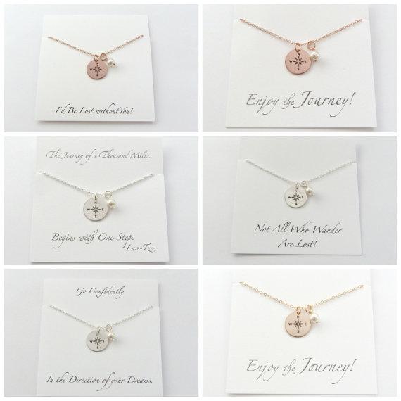 Bridesmaid Gift Ideas - Bridesmaid Jewelry - Bridesmaid Proposal Ideas - Coordinates Necklace