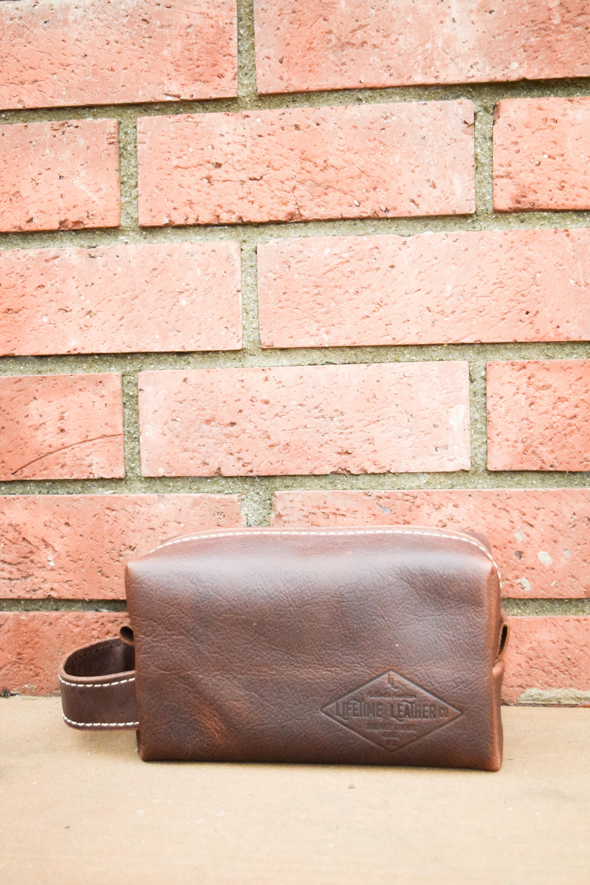 Practical Groomsman Gift Idea - Men's Leather Toiletry Bag - Lifetime Leather Co