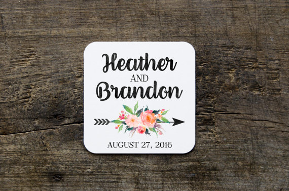 Floral Wedding Coasters - Floral Wedding Details