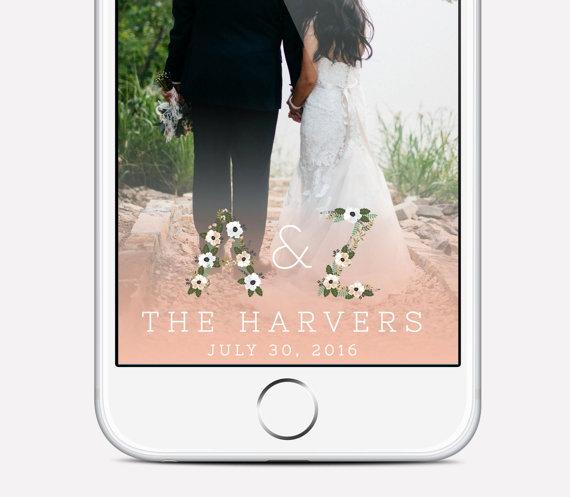 Floral Wedding Snapchat Filter - Floral Wedding Details