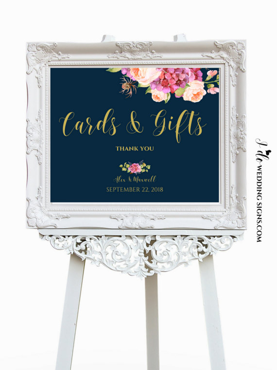 Floral Wedding Sign - Floral Wedding Details