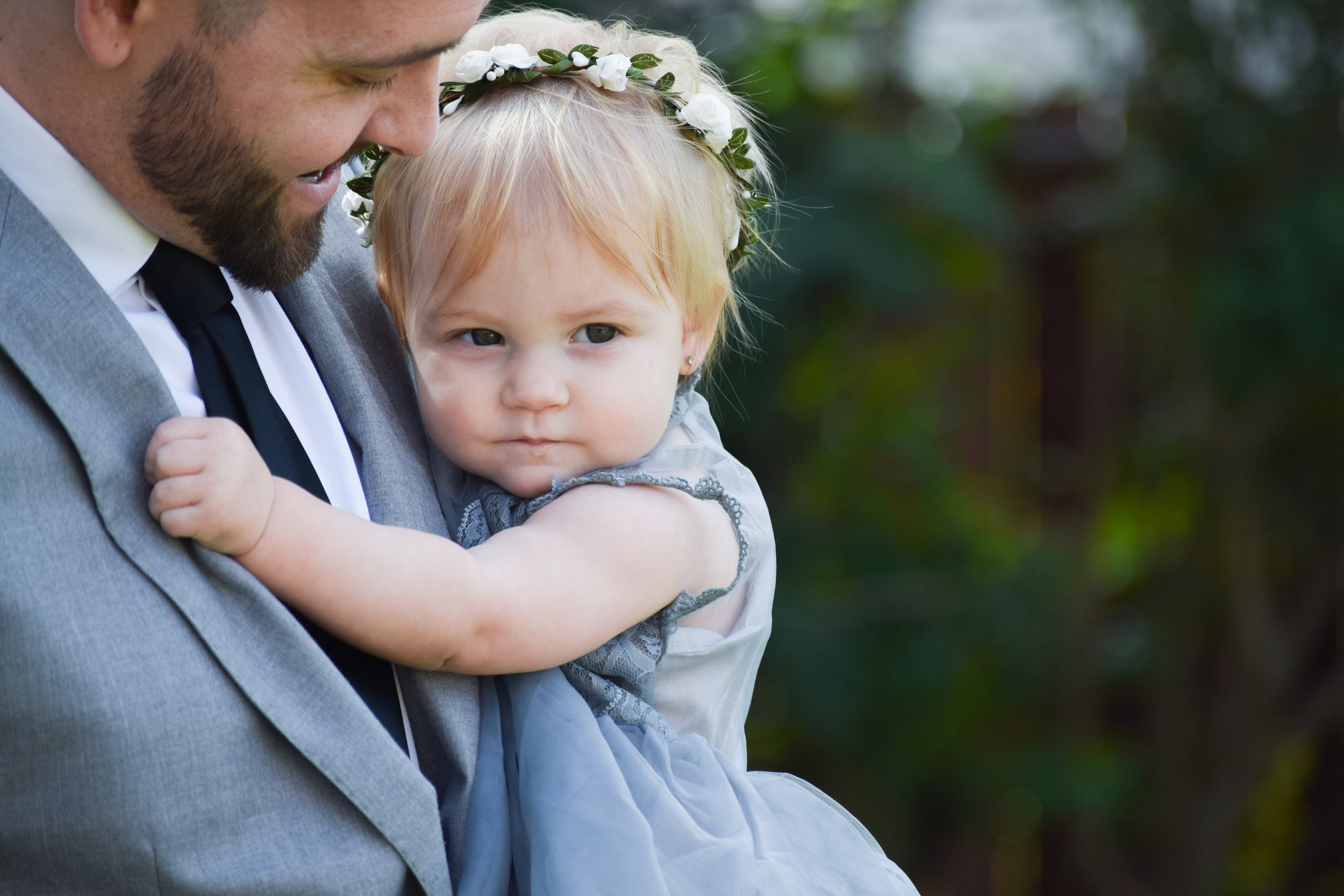 Grey lace + Chiffon Flower Girl Dress - The Hair Bow Company