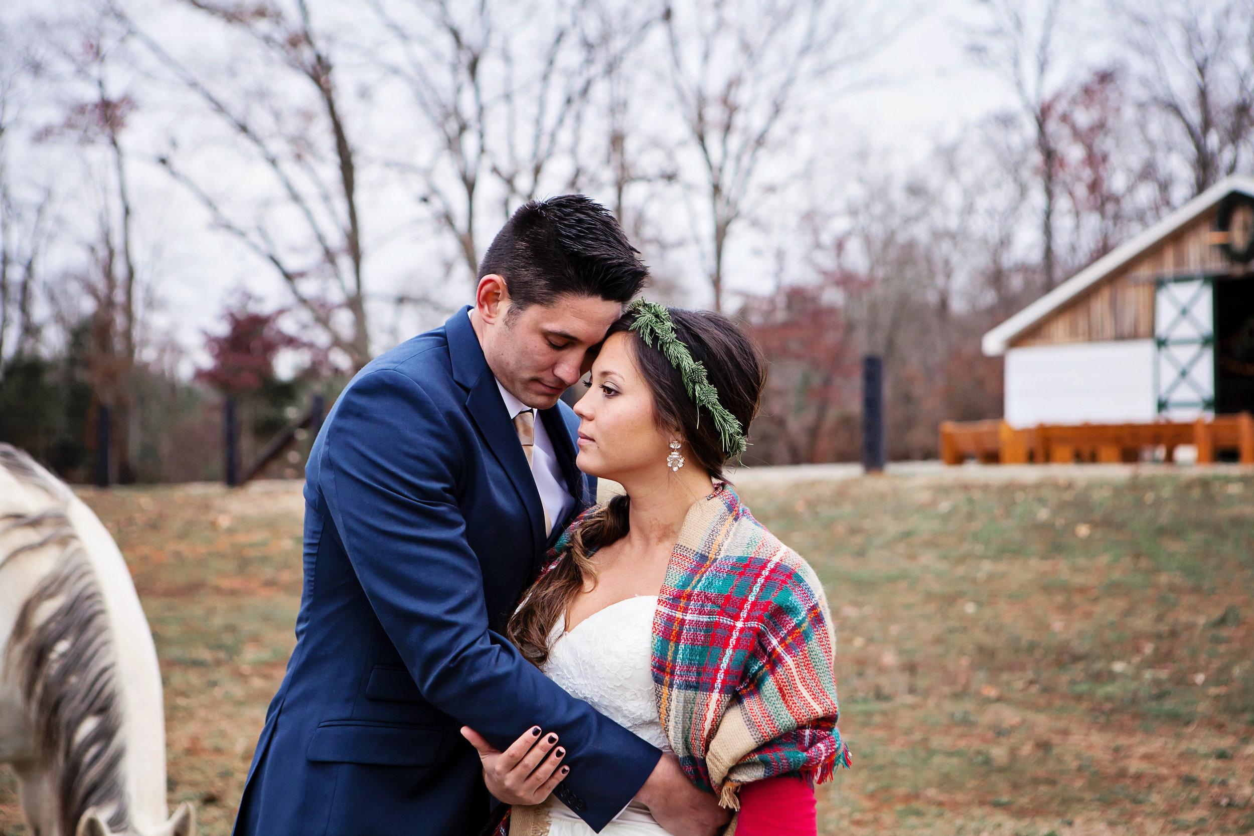 A Cozy Winter Farm Wedding - Megan White Photography - 13 Cedar Events