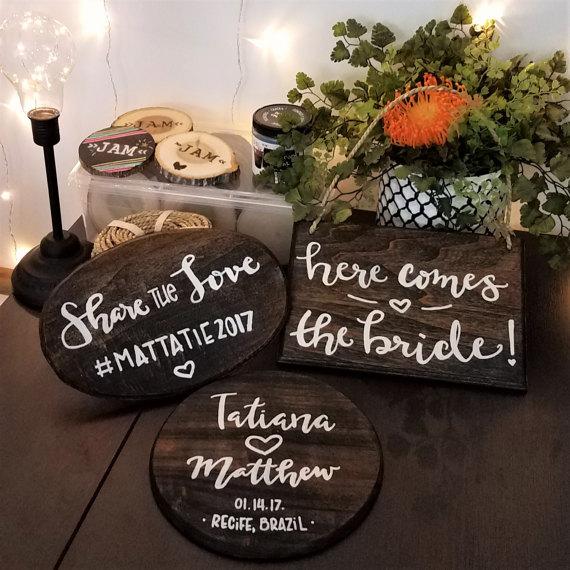 Custom Wooden Wedding Signs
