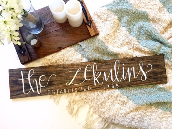 Wooden Last Name Wedding Sign